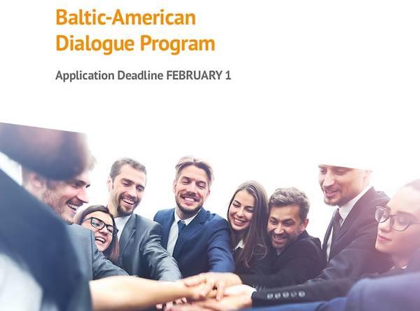 Kvietimas teikti paraiškas Baltijos-Amerikos Dialogo programos grantams