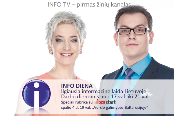 """""""Verslo galimybės Baltarusijoje"""" – INFO TV ir """"BZN start"""" laida"""