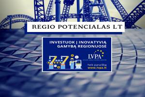 """Priemonės """"Regio potencialas LT"""" pristatymo seminaras"""