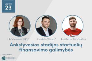 Ankstyvosios stadijos startuolių finansavimo galimybės