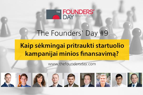 THE FOUNDER'S DAY #9: Kaip sėkmingai pritraukti startuolio kampanijai minios finansavimą?