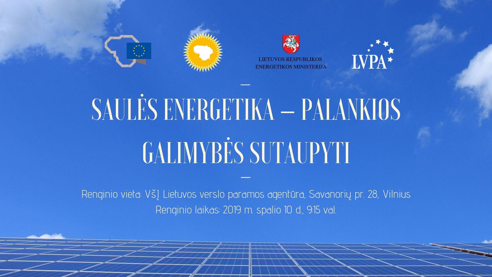 """Seminaras """"Saulės energetika – palankios galimybės sutaupyti"""""""