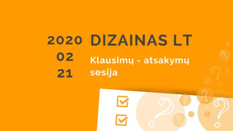 """Priemonės """"DIZAINAS LT"""" klausimų – atsakymų sesija"""