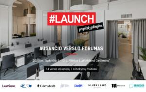#LAUNCH 2020 – augančio verslo forumas: Online