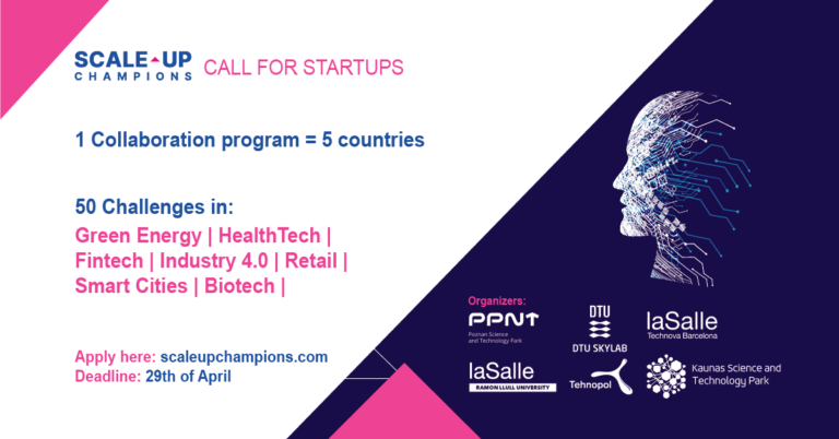 "Open-call for ""Scale-up Champions"" startup-corporate collaboration program"